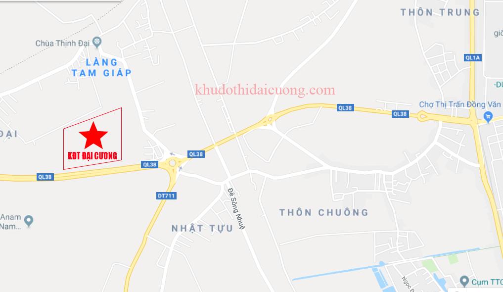 Vị trí dự án Dự án Đồng Văn Green Park - Khu đô thị Đại Cương
