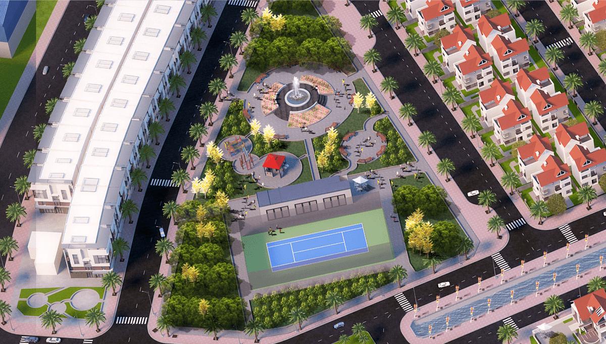 Khu công viên trung tâm dự án khu đô thị Tây Bình Mỹ