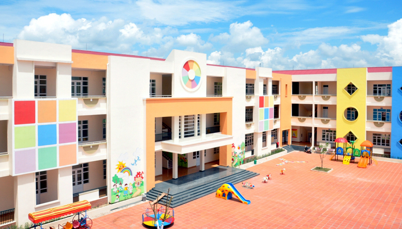 Trường mầm non tại dự án khu đô thị Tây Bình Mỹ
