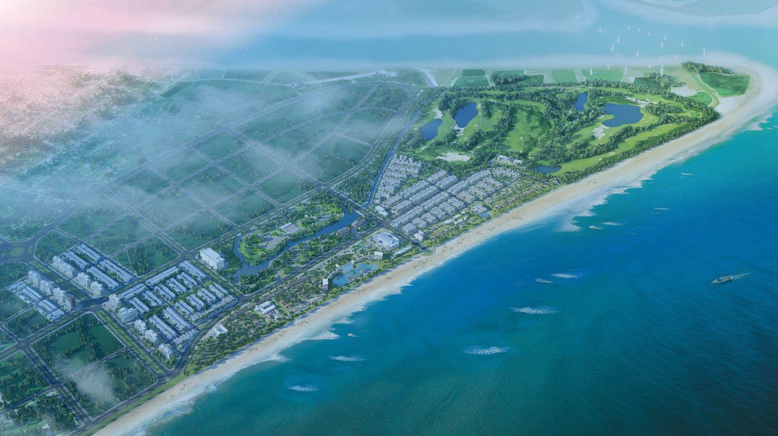 Phối cảnh tổng thể dự án FLC Quảng Ngãi